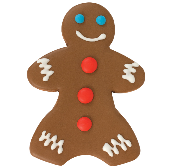 24ct Gingerbread Boy Decorated Cookies 16088