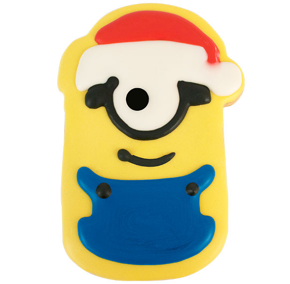 Minions Christmas.24ct Minions Christmas Decorated Cookies 16245