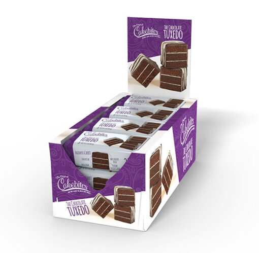 Chocolate Tuxedo Cake Bites 12 ct. Displays 17695 - Includes (8) displays containing (12) pieces in each display